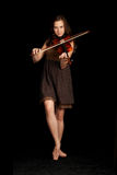 Girl with violin Royalty Free Stock Image