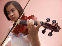 Girl and Violin Royalty Free Stock Photo