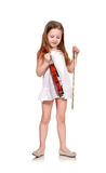 Girl with violin Stock Image