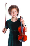 Girl with violin Royalty Free Stock Photography