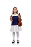 Girl with violin Stock Photography