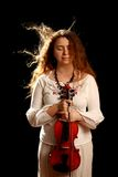 Girl violinist Royalty Free Stock Images