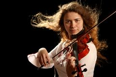 Girl violinist Stock Photo
