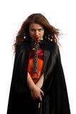 Girl violinist Royalty Free Stock Photos