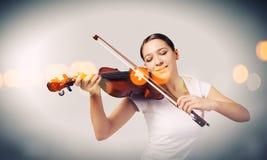 Girl violinist Royalty Free Stock Photo