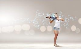 Girl violinist Stock Photo