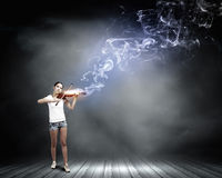 Girl violinist Royalty Free Stock Photography