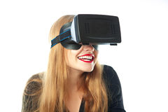 Girl in virtual reality glasses Royalty Free Stock Images