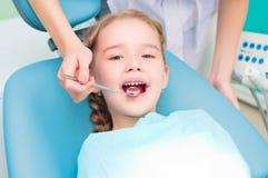 Girl visiting dentists, visit the dentist Royalty Free Stock Image