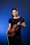 Girl vith violin Royalty Free Stock Photography