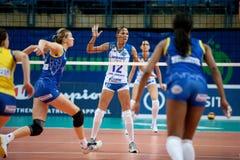 Girl volleyball game Stock Photos