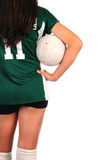 Girl with Volleyball Under Her Arm Stock Images