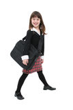 Girl w/Laptop Case stock photo