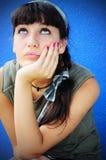 Girl waiting Stock Photo