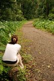 Girl waiting Royalty Free Stock Image