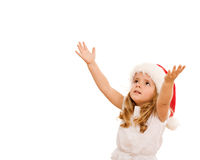 Girl waiting for the christmas Royalty Free Stock Image