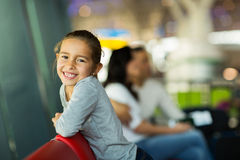 Girl waiting flight Stock Photography