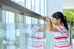 Girl Waiting Her Mother In The Office Royalty Free Stock Photo