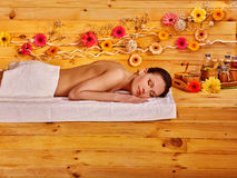 Girl waiting for a massage therapist in the Spa Royalty Free Stock Images