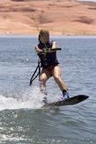 Girl Wakeboarding Royalty Free Stock Photos