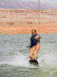 Girl Wakeboarding Royalty Free Stock Photography