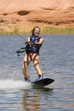 Girl Wakeboarding at Lake Powe Stock Image