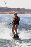 Girl Wakeboarding at Lake Powe Stock Photography