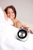 Girl wakes up Stock Photography