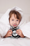 Girl wakes up Royalty Free Stock Photo