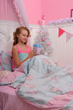 Girl waking up Royalty Free Stock Images
