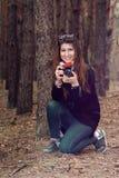 Girl on walk Stock Image