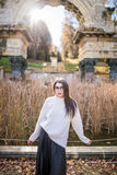 Girl walkin Royalty Free Stock Photos