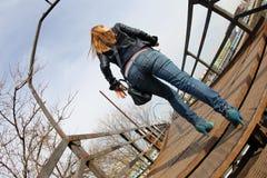 Girl walking Stock Images