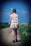 Girl walking Stock Photos