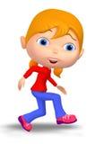 Girl Walking Around Stock Images