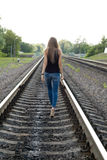 Girl Walking Away Stock Photo