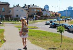 Girl walking Stock Image