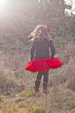 Girl walking in the countryside Royalty Free Stock Images