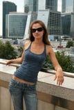 Girl Walking In City Royalty Free Stock Image