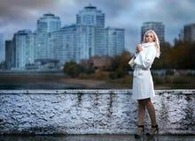 Girl Walking In The Rain Stock Photography