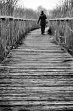Girl Walking On A Path Stock Image