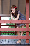 Girl Walking Outdoor Stock Photos