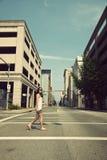 Girl walking streets of Charleston Stock Images