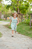 Girl on the walking Royalty Free Stock Images