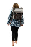 Girl Walking To School Royalty Free Stock Photo