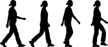 Girl walking - vector Stock Image