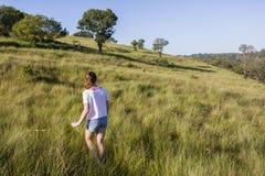Girl Walking Wilderness Royalty Free Stock Photos