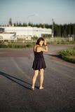 Girl walks Royalty Free Stock Photo