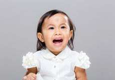 Girl want to scream Stock Images