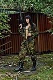 Girl in war Royalty Free Stock Image